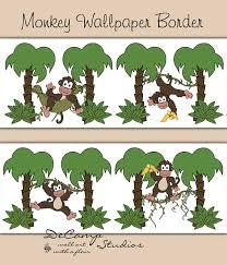 monkey wallpaper for walls safari monkey wallpaper border wall decals baby boy jungle