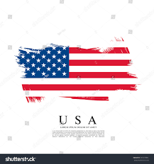 Flag Of The United States Of America Flag United States America Brush Stroke Stock Vector 551910001