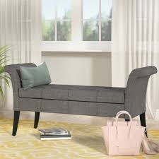 Gray Bedroom Bench Grey Bedroom Benches You U0027ll Love Wayfair