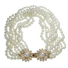 white shell pearl necklace images Kenneth jay lane 4 row white shell pearl necklace pearl fkzfjcisd jpg