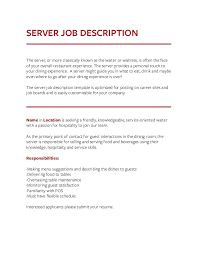 Host Resume Sample by Waiter Job Description Rn Duties Rn Job Descriptions Registered