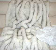 Furry Blanket Faux Fur Throw Designer Fur Fashion Fur Fur Throw Fur Blanket