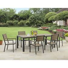 Patio Furniture From Walmart by Better Homes And Gardens Saxil Bay Faux Resin Wood 7 Piece Dining