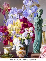 Vase With Irises Japanese Iris Flower Stock Images Royalty Free Images U0026 Vectors