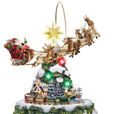 Animated Outdoor Christmas Decorations by The Thomas Kinkade Animated Christmas Tree Hammacher Schlemmer