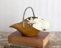 Copper Home Decor Copper Basket Etsy