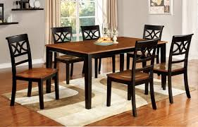 Kitchen Furniture Set Furniture Of America Two Tone Adelle 7 Piece Country Style Dining Set