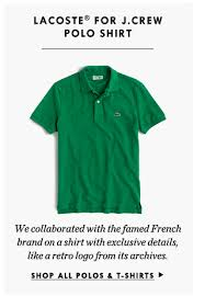 j crew the small batch list lacoste polos exclusive kicks