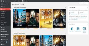 membuat website film online wpmovielibrary wordpress plugins