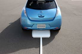 nissan leaf home charging the nissan leaf will go wireless in 2013