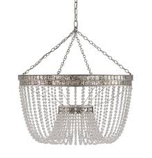 Silver Chandelier by Highbrow Chandelier Currey U0026 Company