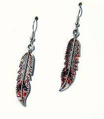 one side feather earring feather earrings ebay