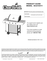 Char Broil Patio Caddie by Char Broil 463210511 User Manual 32 Pages