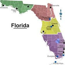 Interactive Map Of Florida by Map Of Florida Regions