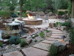 Gravel Landscaping Ideas Backyard Landscape Design Patio Traditional With Curving Path
