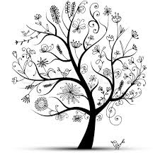 black tree design beatiful tree