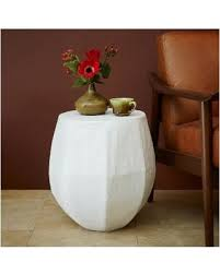 Small White Accent Table On Sale Now 20 Off West Elm Haiti Drum Side Table Small