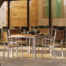 oxford garden travira teak patio dining set seats 4 hayneedle
