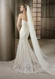strapless lace mermaid wedding dress sang maestro