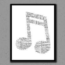 music note print music note art music teacher print gift