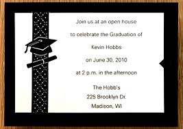 black and white themed free printable graduation party invitations