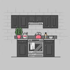 photos of kitchen interior modern kitchen interior vector free