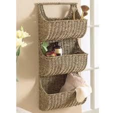 Seagrass Bathroom Storage Seagrass 3 Tier Wall Basket Bathroom Storage Linens And Storage
