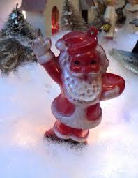 vintage plastic santa claus container ornament