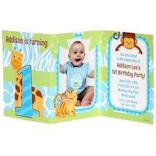 safari 1st birthday boy personalized tri fold invitation at dollar