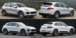porsche macan and cayenne benim otomobilim 2015 porsche macan vs porsche cayenne visual