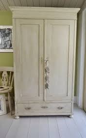 double pine wardrobe painted in a shabby chic style with annie