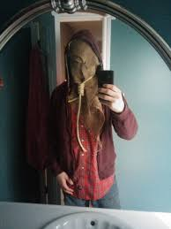 scarecrow halloween mask start of a scarecrow costume for halloween suggestions welcome