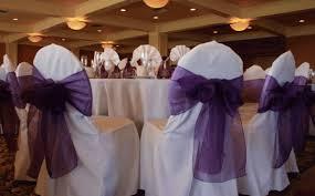 chair bows organza chair bow purple chan s silk flowers inc