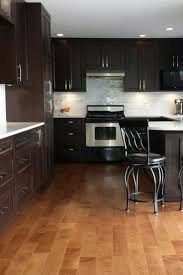 Engineered Hardwood In Kitchen Flooring Brown Wood Kitchen Cabinet For Modern Kitchen Decor With