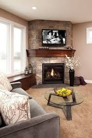 Corner Fireplace Living Room Furniture Placement - similar floor plan and corner fireplace to our house different