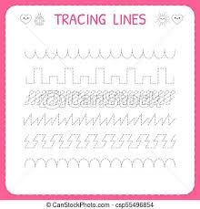 line pattern worksheet trace line worksheet for kids trace the pattern working clipart
