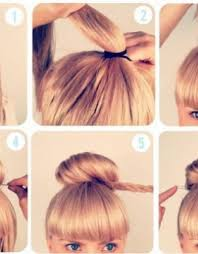 Easy Messy Hairstyles For Short Hair by Easy Messy Bun For Medium Hair How To Headband Braid Messy Bun