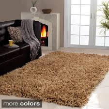 Solid Colored Rugs Area Rugs 4 6 Affinity Home Collection Cozy Shag Area Rug Brown