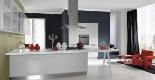 hotte cuisine ouverte design interieur cuisine ouverte îlot blanc hotte inox fauteuil