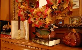 decorations fall color thanksgiving mantel decoration alongside