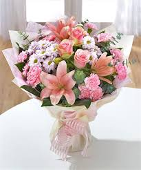 pink bouquet pink flower bouquet pictures send pink white bouquet to uk order