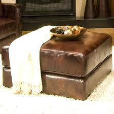 ottoman leather cocktail ottoman with drawers cocktail ottoman
