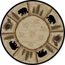 10 Round Rug by Amazon Com Dean Toccoa Bear Lodge Cabin Carpet Area Rug Size 5 U00273