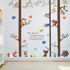 online get cheap monkeys trees aliexpress com alibaba group forest animals monkey rabbit bird tree wall sticker children bedroom tv background sofa wall decal