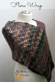 my hobby is crochet the flora wrap shawl scarf free crochet