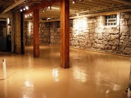 incredible unfinished basement floor ideas interior metallic color
