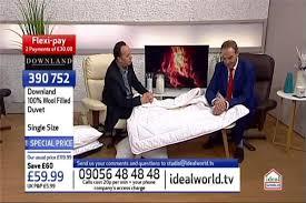 Wool Filled Duvet Downland Wool Filled Duvet Single Size 390752 Ideal World
