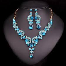 wedding necklace bride images Crystal wedding jewelry sets for bride party costume accessories jpg