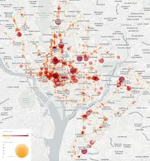 Dc World Map by Study Pedestrian Collisions In D C