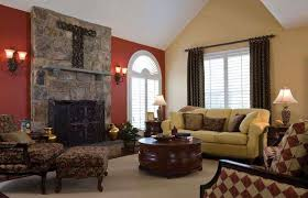 living room colors with brown couch interior design